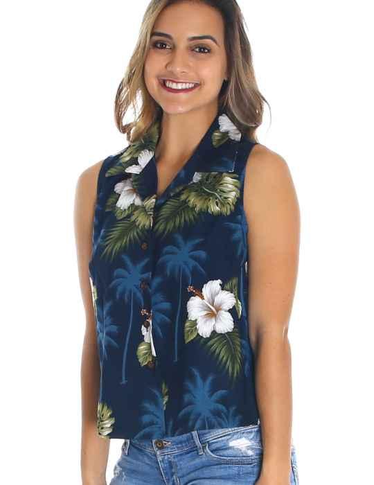 ec3e4361a995 Ka Pua Floral Sleeveless Blouse: Shaka Time Hawaii Clothing Store