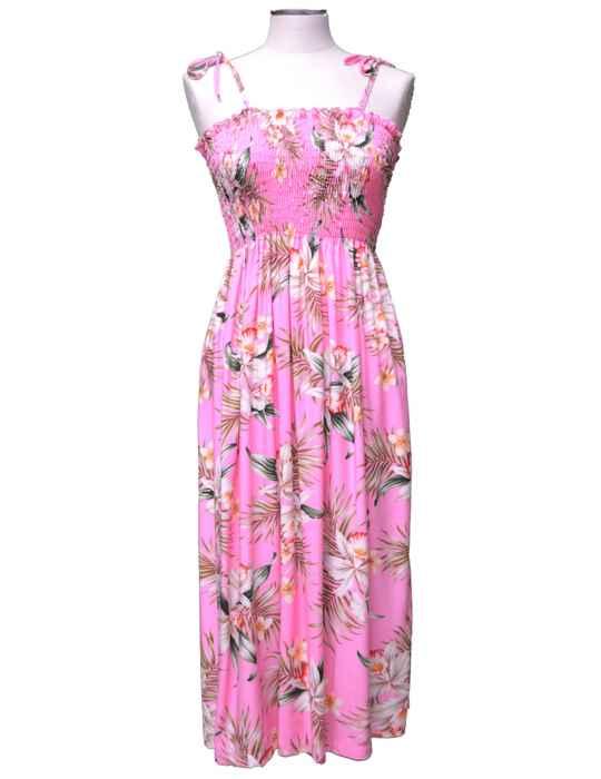b6ad8c431c18 Short Hawaiian Dress Smock Top Classic Orchids: Shaka Time Hawaii Clothing  Store