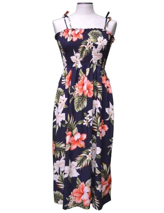 01901ab20a Pupukea Hibiscus Smock Top Hawaiian Dress: Shaka Time Hawaii Clothing Store