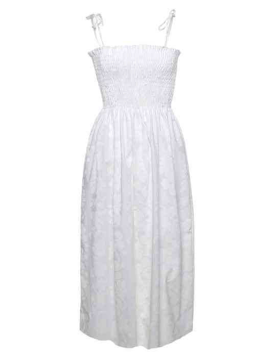 Hibiscus Lei Smock Top White Hawaiian Wedding Dress: Shaka Time ...