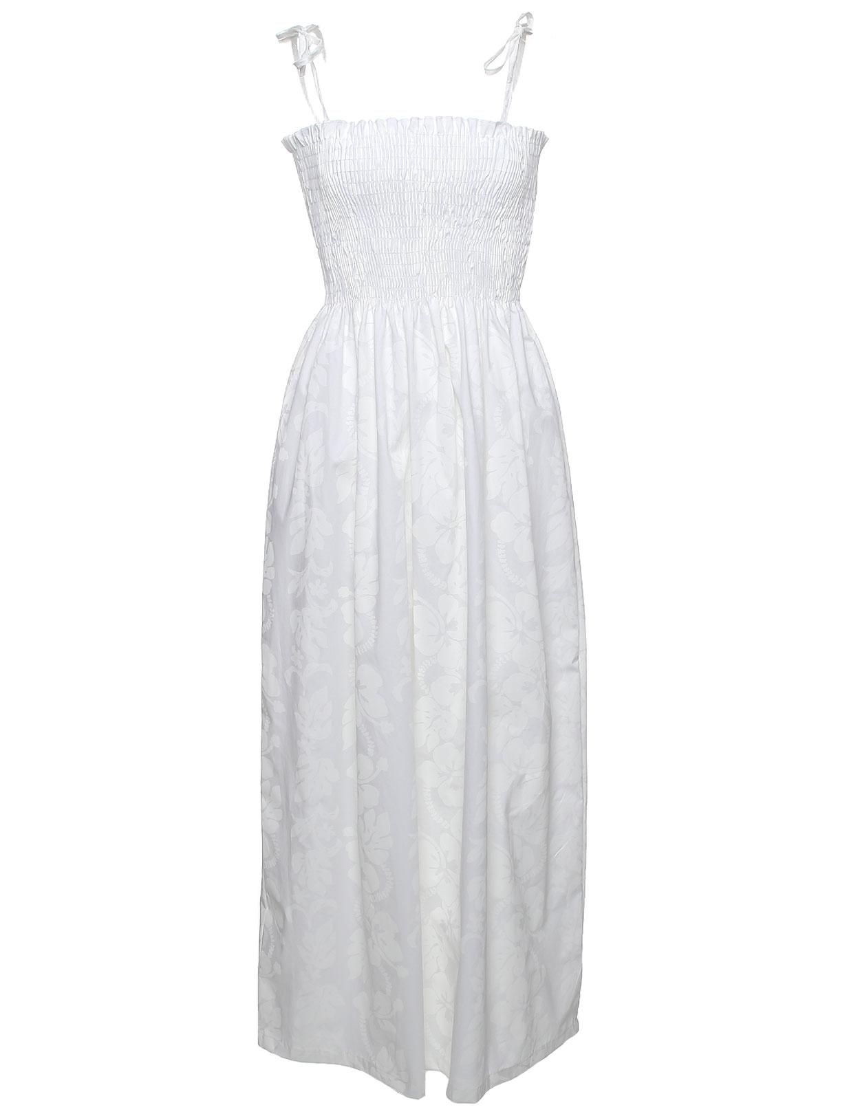 Maxi Smocked Top Long Hawaiian Wedding Dress: Shaka Time Hawaii ...