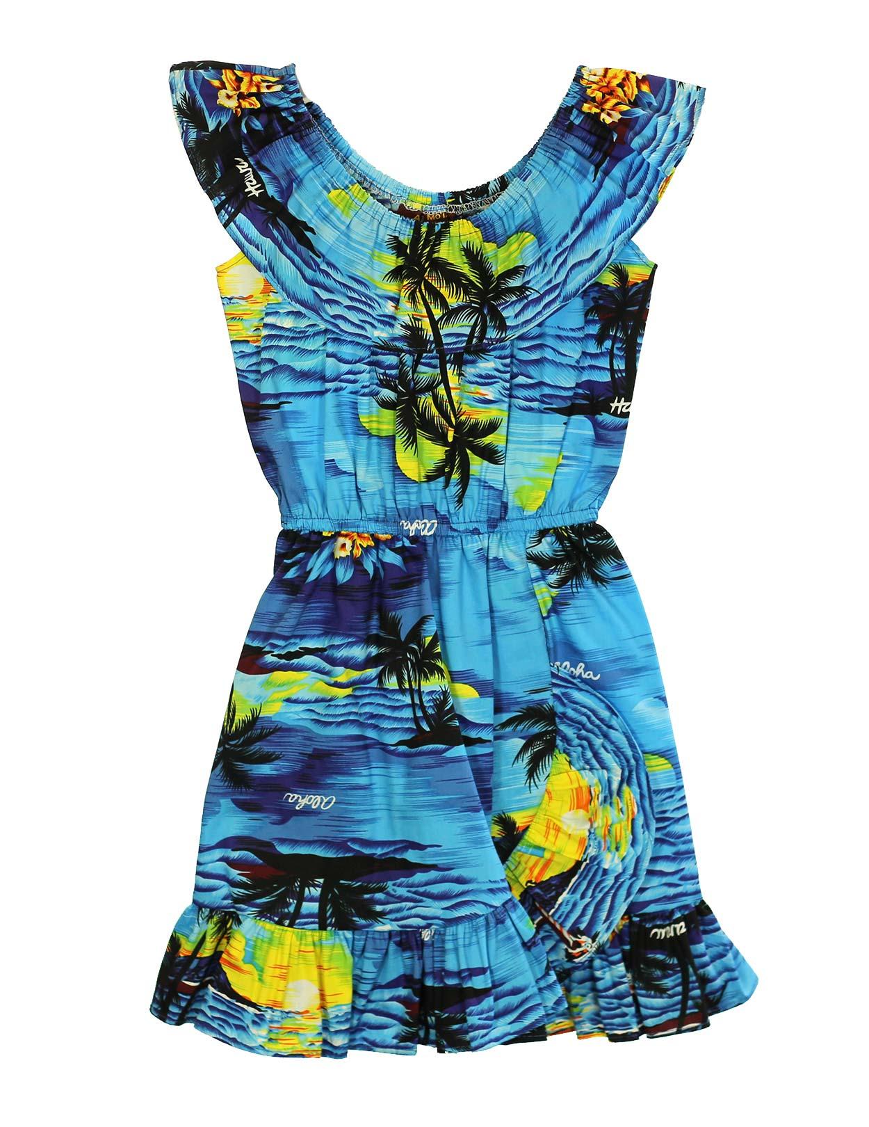 girl�s aloha dress spanish style island luau shaka time