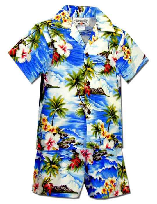 fe527c790 Hookipa Hibiscus Toddler Clothes Set for Boys: Shaka Time Hawaii Clothing  Store