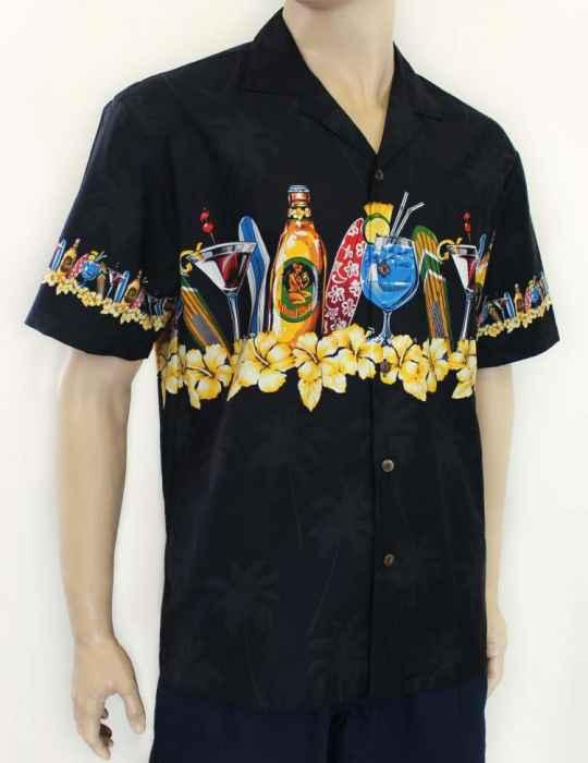 4eca055ed Chest Border Design Hawaiian Party Shirt: Shaka Time Hawaii Clothing Store