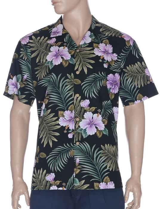 f43141d8 Hibiscus Fern Hawaiian Shirt: Shaka Time Hawaii Clothing Store