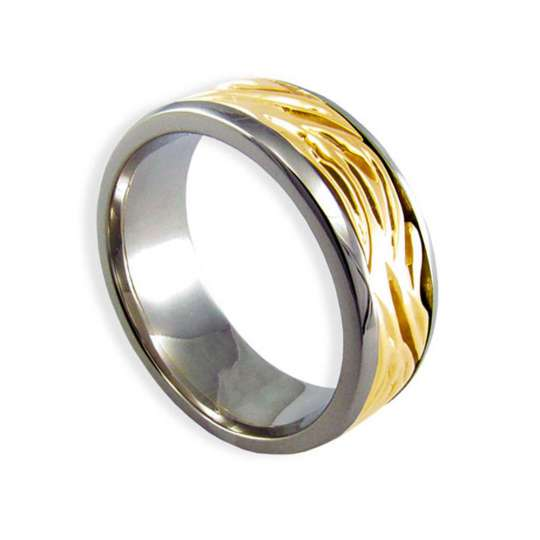 deluxe maile lei gold wedding hawaiian ring - Hawaiian Wedding Rings