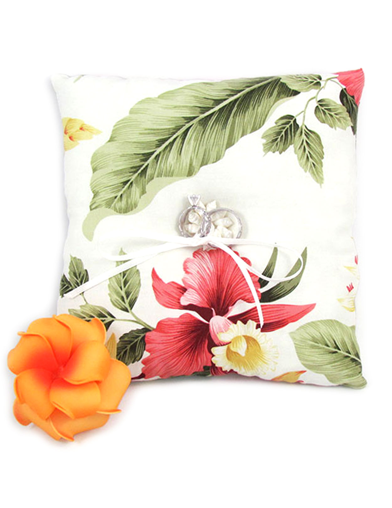 Orchid Pua Ring Bearer Pillow: Shaka Time Hawaii Clothing Store