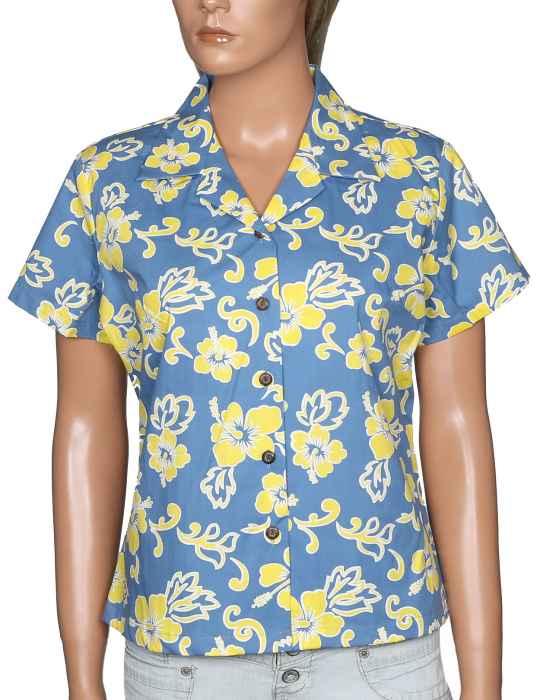 a5677768 Fitted Women's Hawaiian Shirt Puna: Shaka Time Hawaii Clothing Store