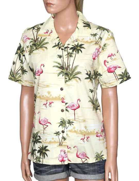 15aa3d3facec26 Flamingo Ohana Camp Women's Shirt: Shaka Time Hawaii Clothing Store