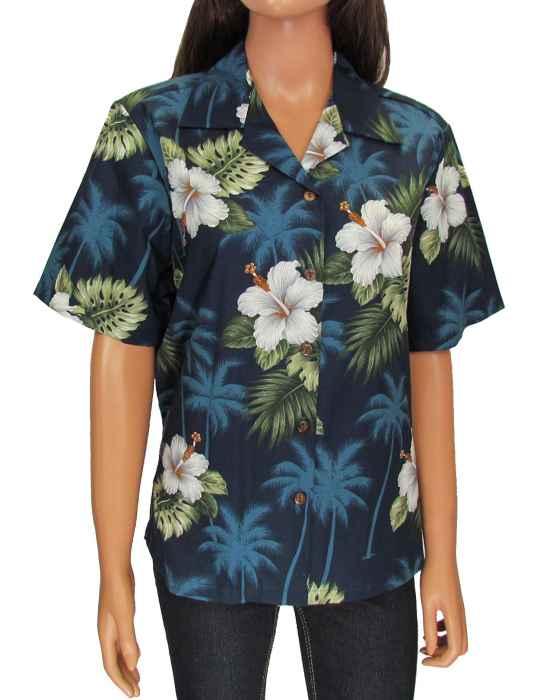 a7e6c509445f Aloha Camp Blouse Tropical Ka Pua: Shaka Time Hawaii Clothing Store