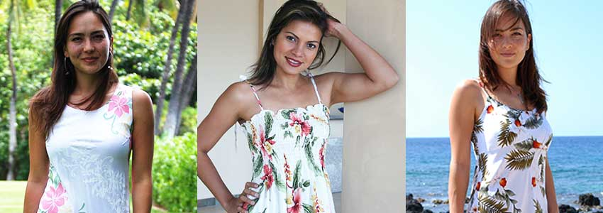 Get free shipping on all Hawaiian Dresses. 2 to 3 days shipping from Hawaii to the mainland.