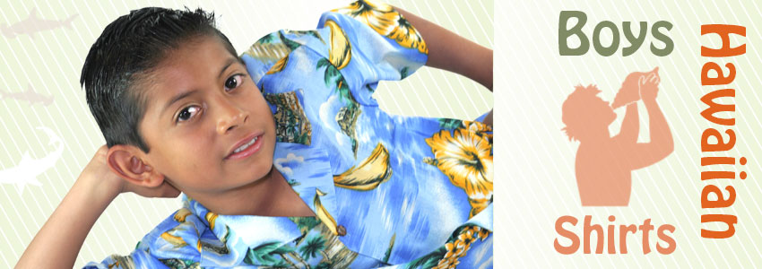 Boys Hawaiian Shirts are colorful and fashionable island clothing.