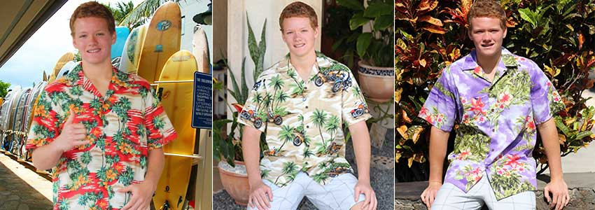 Cotton Hawaiian shirts made in Hawaii