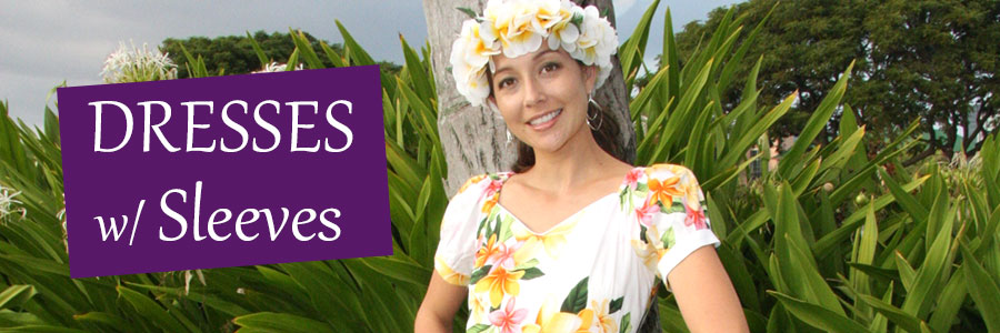 Tropical Dresses with Sleeves