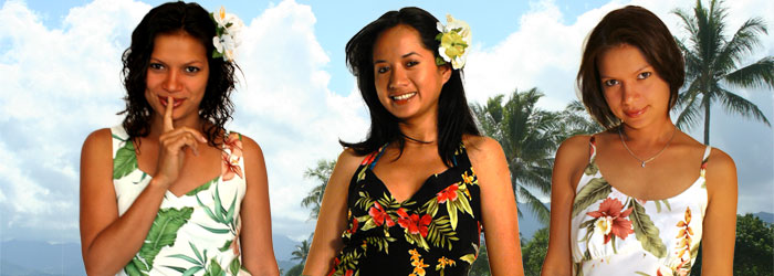 Short Hawaiian Dresses for Women