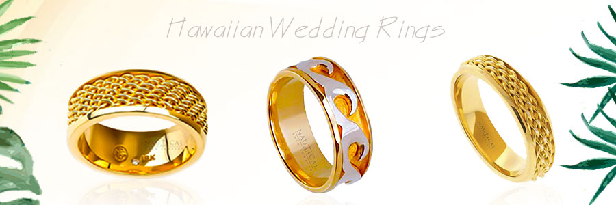 Custom hand made Hawaiian wedding rings width=
