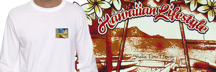 Hawaiian Long Sleeve T-Shirts