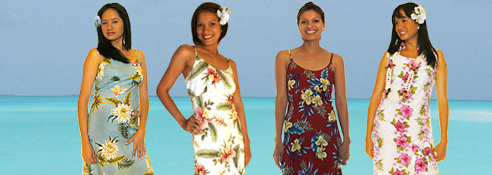 Hawaiian Women Mid Length Dresses
