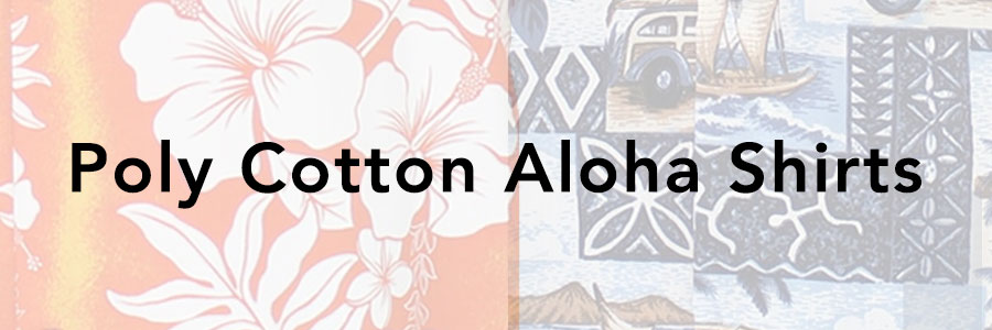 Polyester or Poly Cotton Hawaiian Shirt