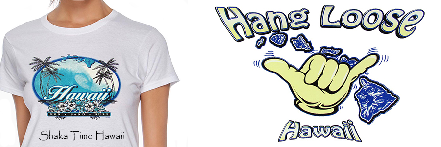 Women hawaiian T-shirts