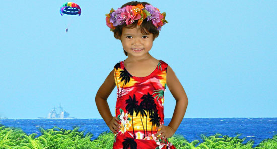 Baby Girl′s Hawaiian dresses