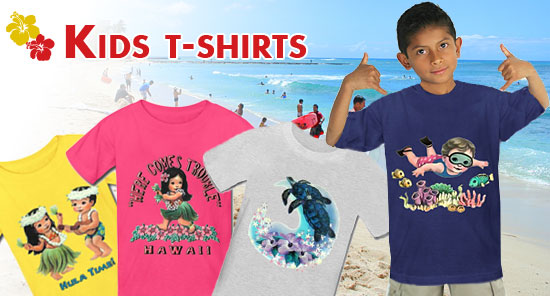 We offer a variety of Tshirts for baby with cool Hawaiian designs