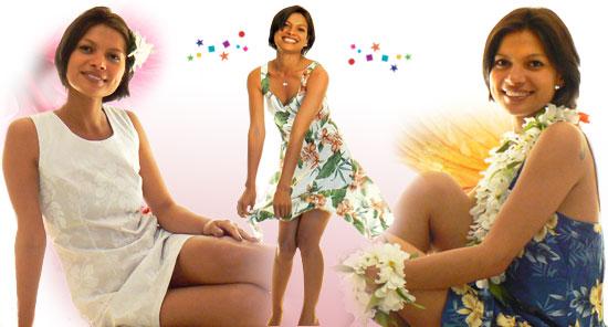 Women 39s Hawaiian Short Dresses